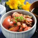 トマト豚丼